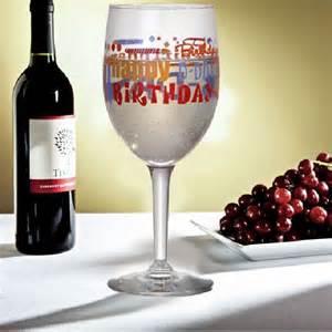 Happy Birthday Images with Wine Glasses
