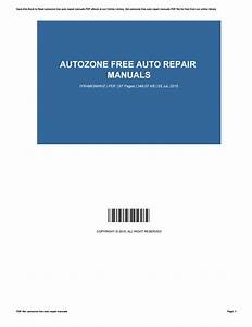 Autozone Free Auto Repair Manuals By Richardhess4835