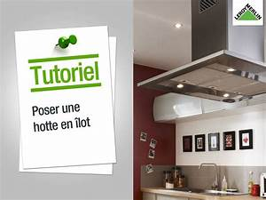 comment installer une hotte ilot leroy merlin youtube With comment poser une hotte decorative