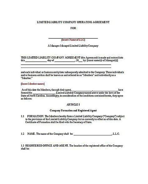 sample operating agreement   member llc  llc