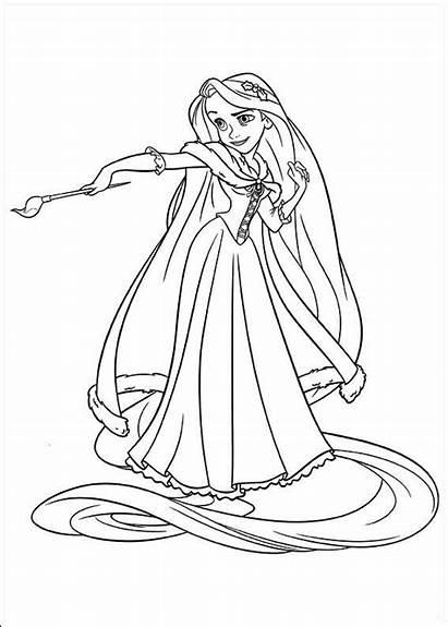 Princess Disney Rapunzel Coloring Pages Tangled Di