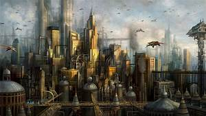 Futuristic City Wallpaper 1920x1080 - WallpaperSafari