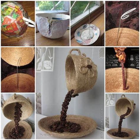 DIY Unique Table Decor with Coffee Beans