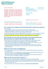 hmrc sends wrong benefits warning   families