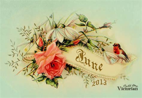june  desktop calendar wallpaper call  victorian