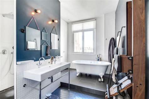 bleu dans la salle de bains  inspirations deco cote