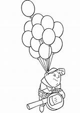 Coloring Disney Balloons Flying Russell Pages Balloon Baloons Clipart Drawing Pixar Without Template Az Line Sketch Kid Train Popular Netart sketch template