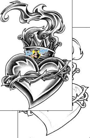 Sacred Heart Tattoo Design CXF-00080 | TattooJohnny.com
