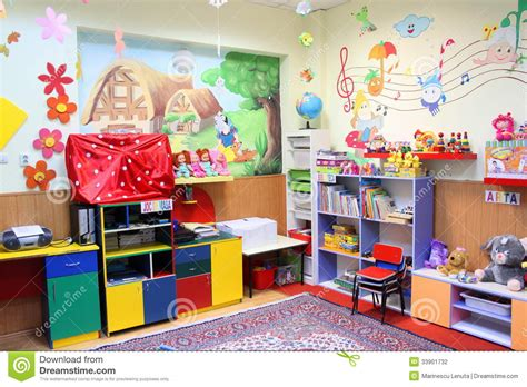 Preschool classroom editorial photography. Image of kids