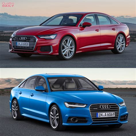 photo comparison audi a6 old c7 generation c8 generation