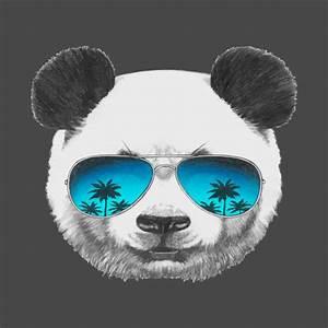 Cool Panda wearing sunglasses - Panda - T-Shirt | TeePublic