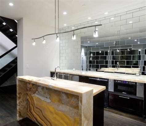 mirror tiles kitchen enlarging your small kitchen with reflection ideas 4156