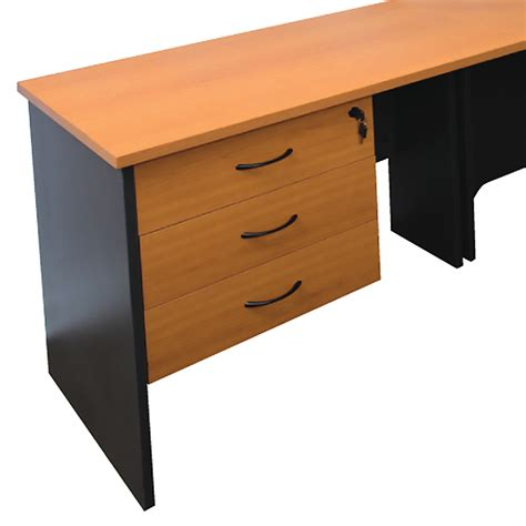 office desk with drawers function fixed drawer unit beech or cherry drawer unit