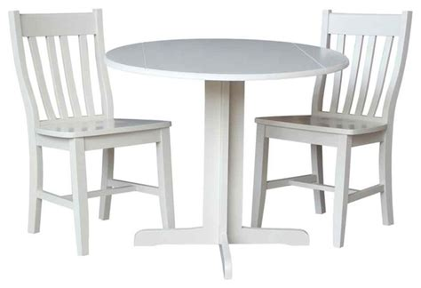 3 pc dual drop leaf table contemporary indoor pub and