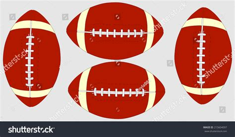 american football lace vector classic leather rugby laces stock vector
