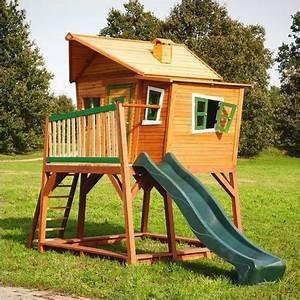 Cabane En Bois Pour Enfant : cabane pour enfants en bois max 340x180x283cm axi ~ Dailycaller-alerts.com Idées de Décoration