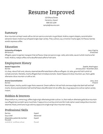 Make My Resume Free by Free Resume Builder Resume Templates To Edit