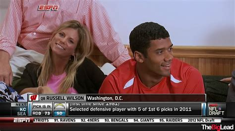 Russell Wilson Wife Meme - russell wilson drafted by seattle after kiper and gruden do battle wilson s wife finally smiles