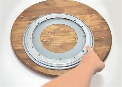 Lazy Susan Diy Hardware Wood Table Attach