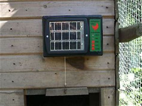 solar chicken door coop ret next topic chicken coop garage door opener