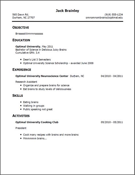Resume Layout Exles by Resume Exle Sle Cover Letter Objective For