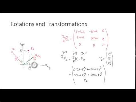Rotation And Transformation Matrices Youtube