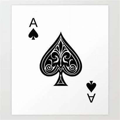 Ace Spades Spade Tattoo Temporary Society6 Sticker