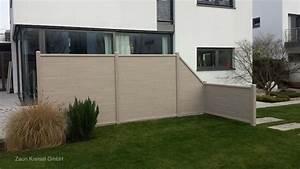 sichtschutzzaun holz kunststoff bvraocom With französischer balkon mit garten kunststoffplatten