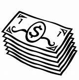 Coloring Money Dollar Bills Printable Paper sketch template