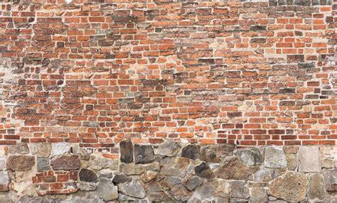 brick wall wallpaper mural designed   perswall