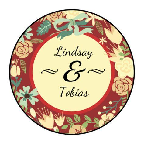 florid wedding circle labels label templates ol