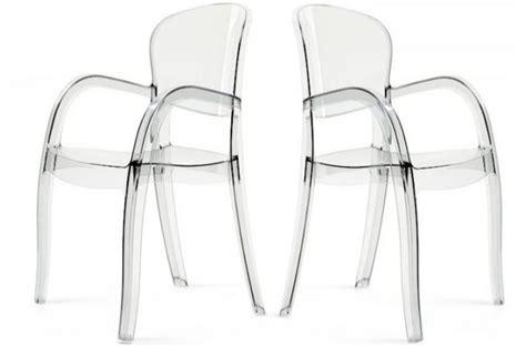 chaises transparentes pas cher lot de 2 chaises transparentes victor chaises design pas