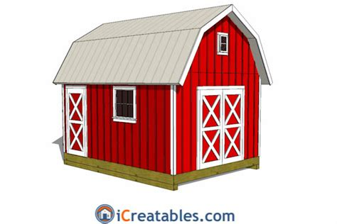 12x16 Gambrel Storage Shed Plans by How To Finish Gambrel Barn Studio Design Gallery