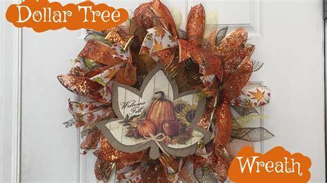 dollar tree fall wreath diy tutorial youtube