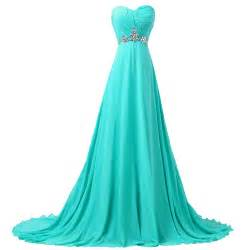 grace karin fast shipping sweetheart turquoise chiffon bridesmaid dress a line formal - Turquoise Bridesmaid Dresses