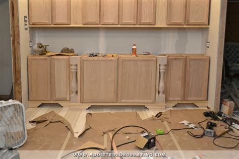 diy kitchen island from stock cabinets diy decorative feet for stock cabinets