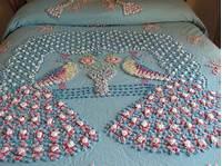vintage chenille bedspread Vintage Chenille Peacock Bedspread