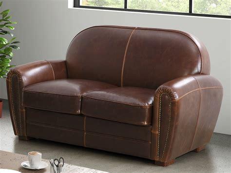 canapé cuir vieilli canapé et fauteuil en cuir vieilli 3 coloris baudoin