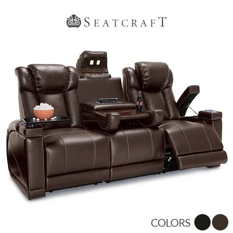 Theater Loveseat by Sigma Leather Gel Power Home Theater Seating Sofa