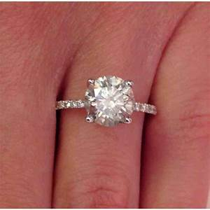2 carat round solitaire diamond engagement rings wedding With 2 carat diamond wedding ring