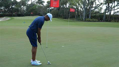 Here's a rare glimpse at Tiger Woods' backyard practice ...