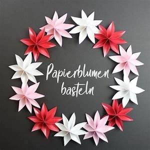 Papierblumen Basteln Anleitung : blumenschmuck auf papierblumen basteln bastelvorlage plotterfreebie handmade kultur ~ Orissabook.com Haus und Dekorationen
