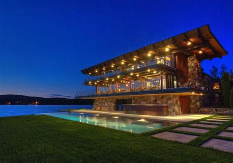 million contemporary waterfront home  quebec