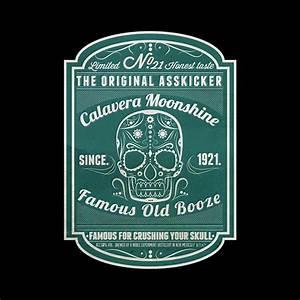 **Calavera Moonshine** Label and bottle design on Pantone ...