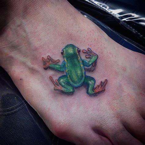 frog tattoos  foot