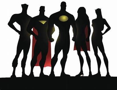 Superhero Silhouette Academy Transparent Avengers Clipart Vector