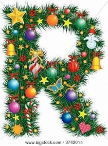 alphabet letter r christmas vector photo bigstock With large christmas letters