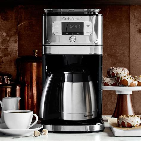While many of its features are automated for ease of use, all it takes is the press of a button to fix it to your needs. Cuisinart Next Generation Burr Grind Coffee Maker ...