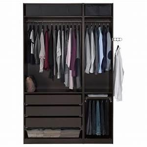 Kleiner Kleiderschrank Ikea : pax kleiderschrank schwarzbraun undredal schwarz ikea ~ Watch28wear.com Haus und Dekorationen