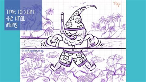 speed draw fun gnome coloring page  ipad pro